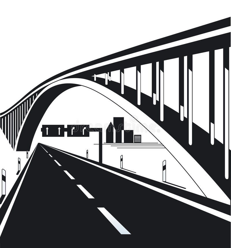 Free Urban Highway And Bridge Royalty Free Stock Image - 21432116