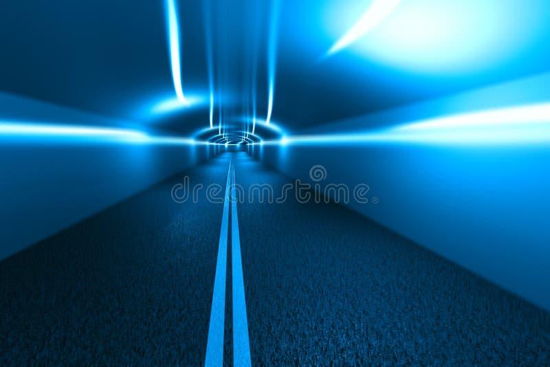 Urban highway road tunnel stock illustration