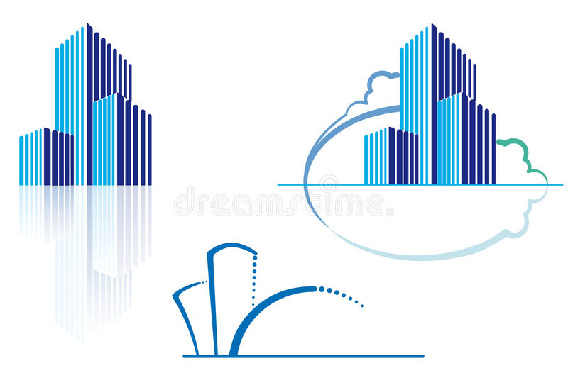 Download Urban icons stock vector. Illustration of skyline, mansion - 15617305