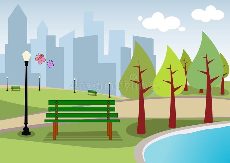 Urban landscape City Park stock illustration