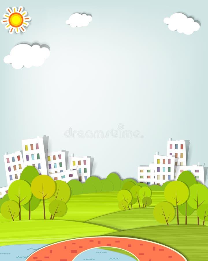 The urban landscape vector illustration