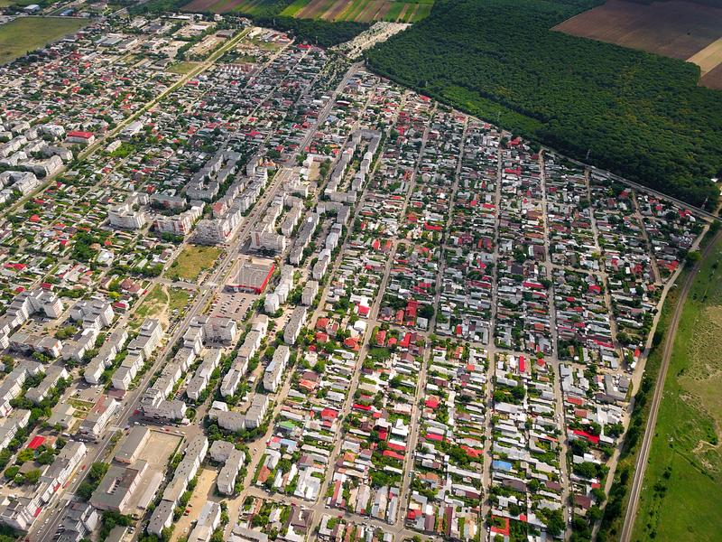 Urban Landscape Aerial View Of Braila City Romania. An Urban Landscape Aerial View Of Braila City Romania stock photography
