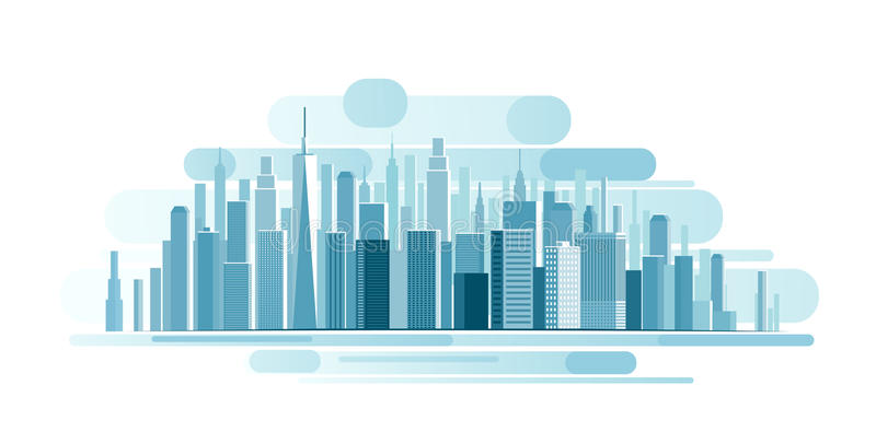 Urban Landscape background royalty free illustration