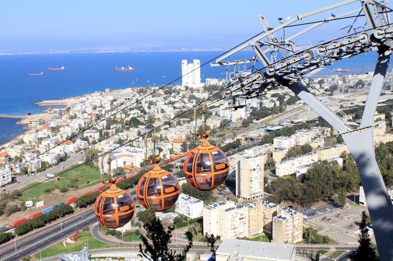 Download Urban Landscape With Cable-way Stock Photo - Image: 24895144