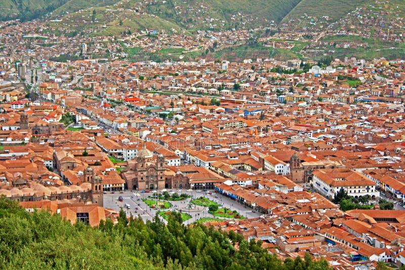 Urban landscape of Cusco royalty free stock photo