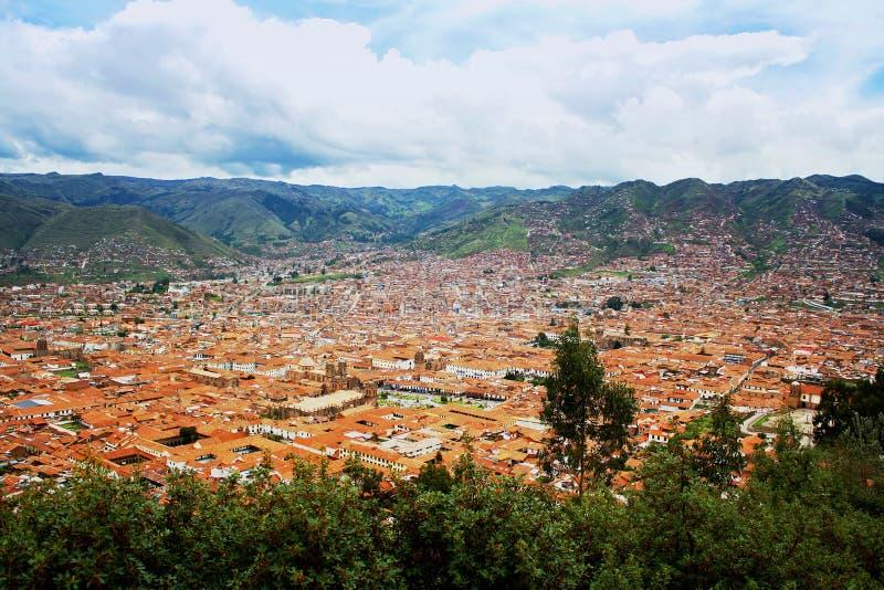 Urban landscape of Cusco, Peru stock photo