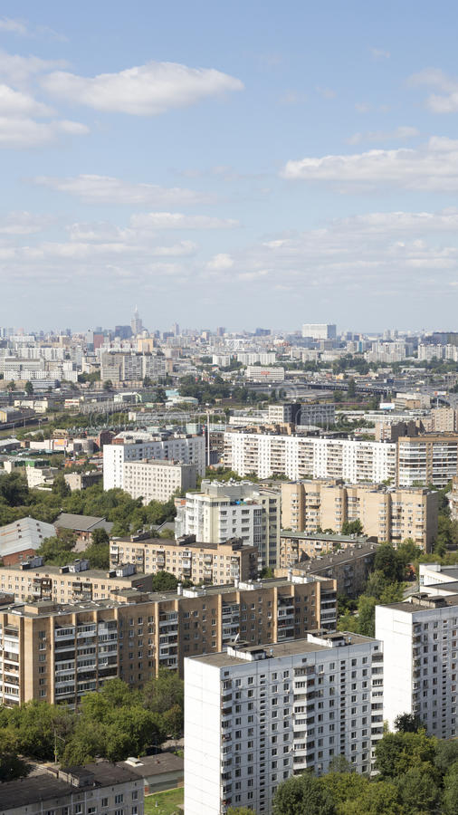 Urban landscape Moscow Sokolniki district royalty free stock photography
