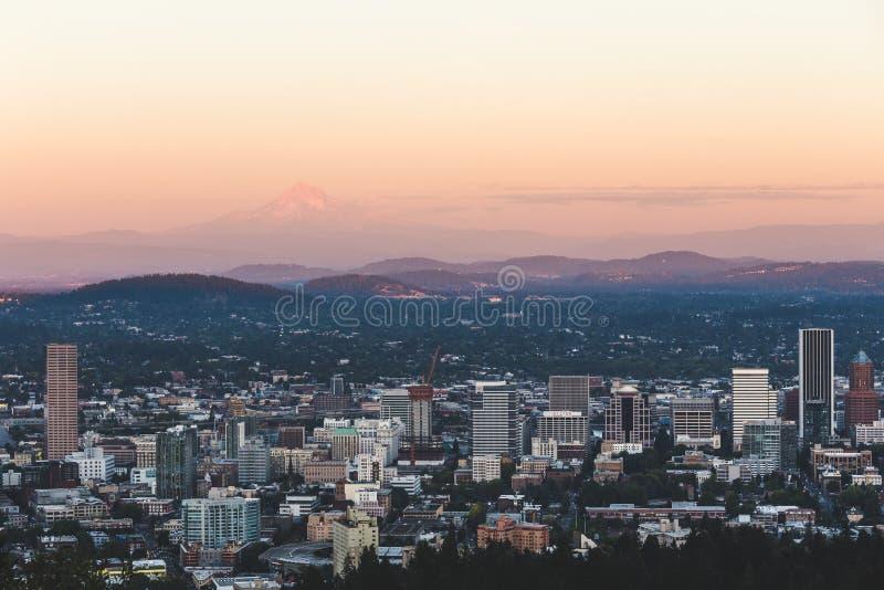 Urban landscape of Portland, Oregon, USA royalty free stock image
