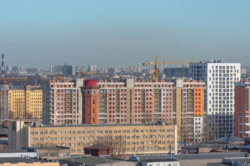 Urban landscape, residential high-rise buildings in the city.  royalty free stock photo