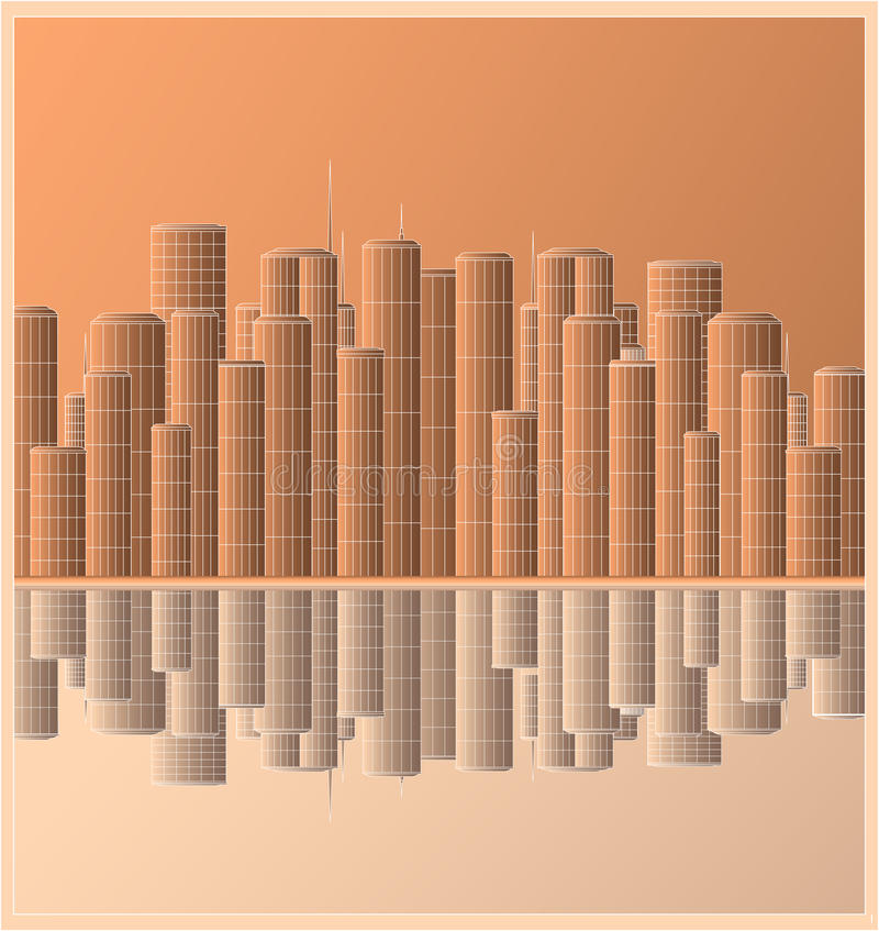 Download Urban Landscape Skyscraper With Reflection Royalty Free Stock Images - Image: 24828329