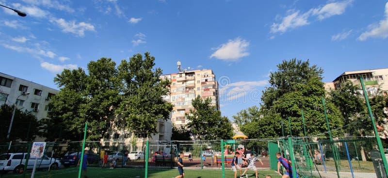 Urban landscape of Slobozia town stock photos
