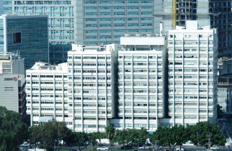 Urban landscape - Towers and Sky Scrapers in Tel Aviv. Urban landscape - Buildings, Towers and Sky Scrapers in Tel Aviv, Israel royalty free stock photos