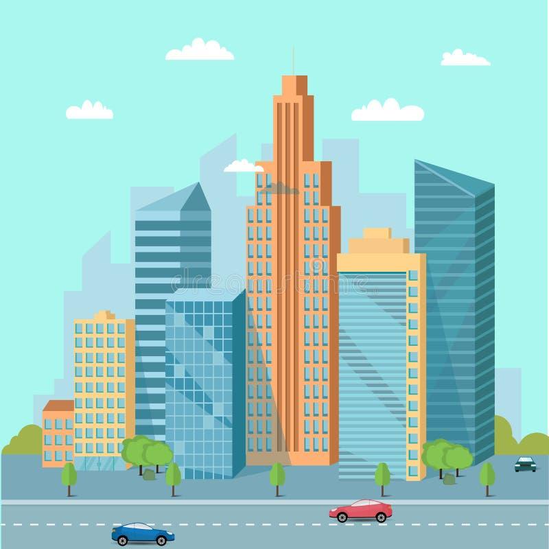 Urban landscape stock illustration