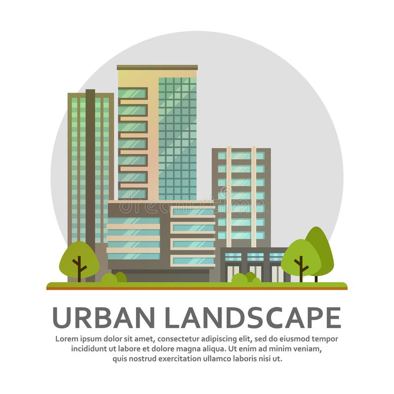Urban landscape in vector. stock illustration