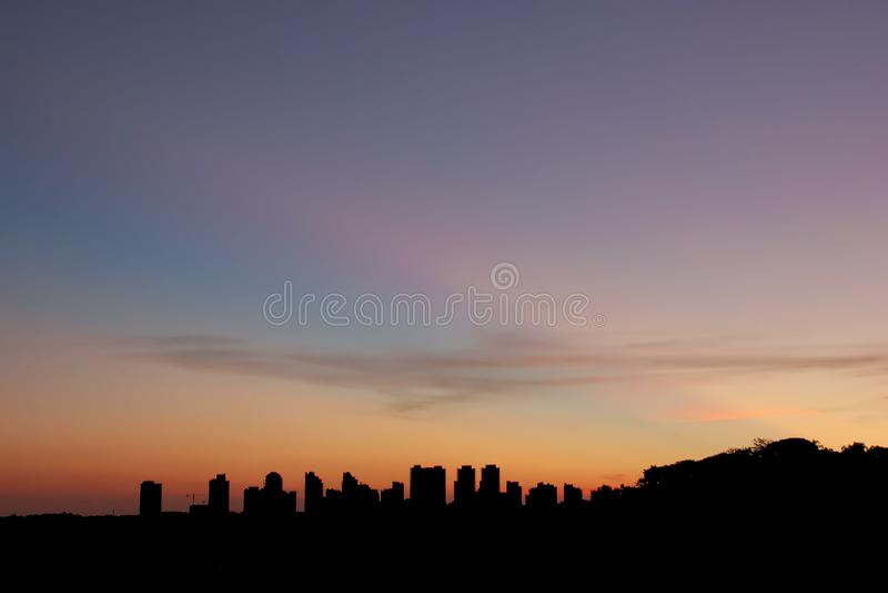 Urban Landscapeat at Sunset royalty free stock image