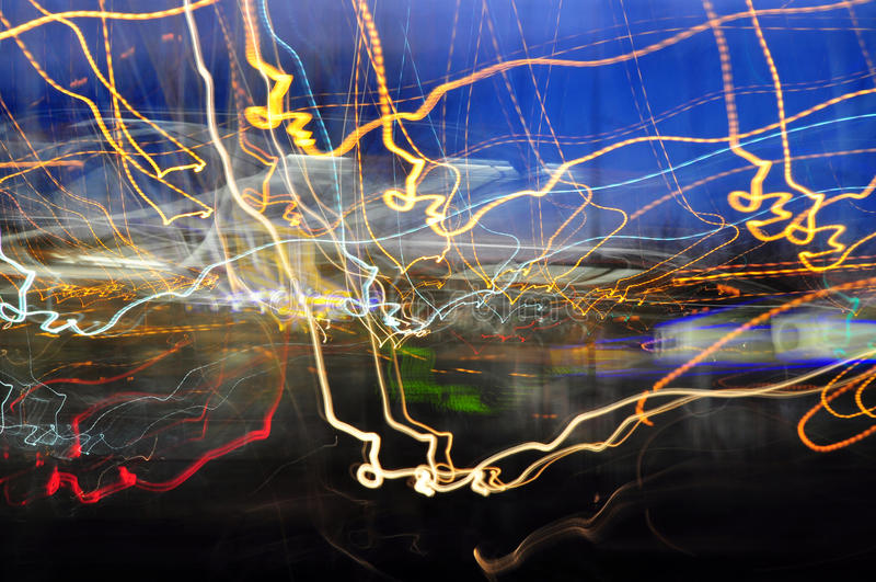 Urban light abstract royalty free stock photo