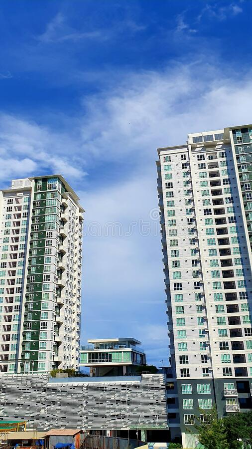 Urban Living in a Davao City Condo Building, Philippines stock photography