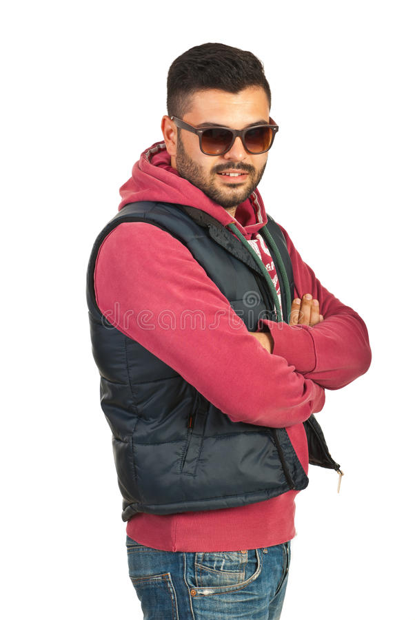 Download Urban man with arms folded stock image. Image of posing - 31737535