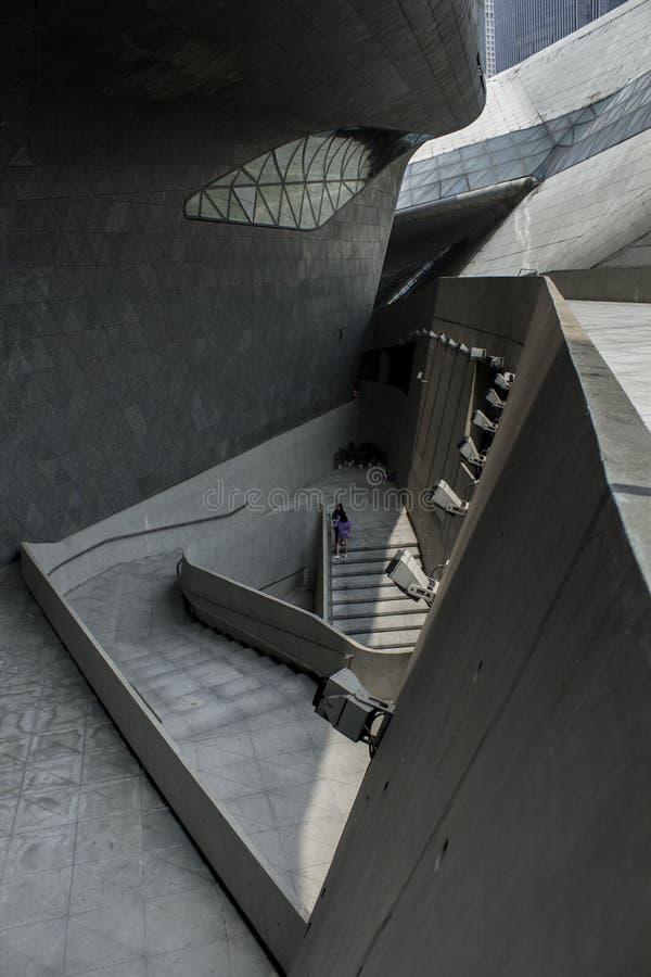 Urban Mazes, Guangzhou Opera House, China stock images