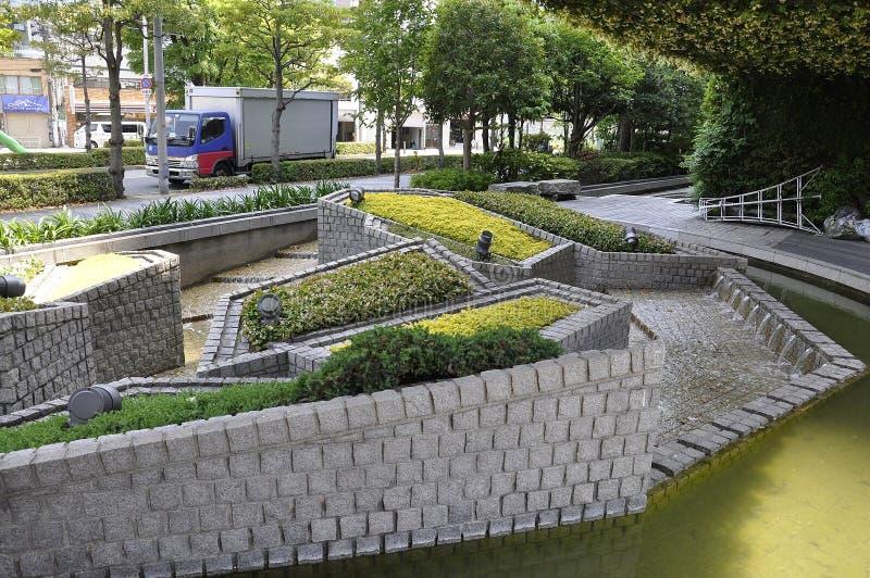 Urban Natural Garden design from Osaka in Japan stock photography