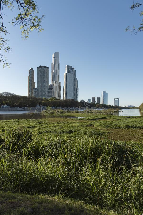 Free Urban Nature, Puerto Madero Buildings And The Costanera Sur Ecological Reserve Stock Images - 162712784