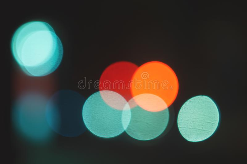 Urban night blur abstract background. Color traffic lights city.  stock images
