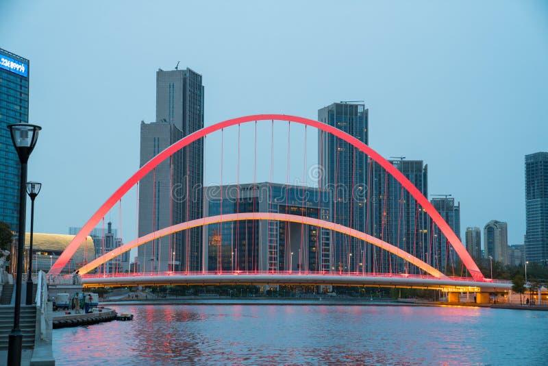 Urban night bridge bustling metropolis royalty free stock images