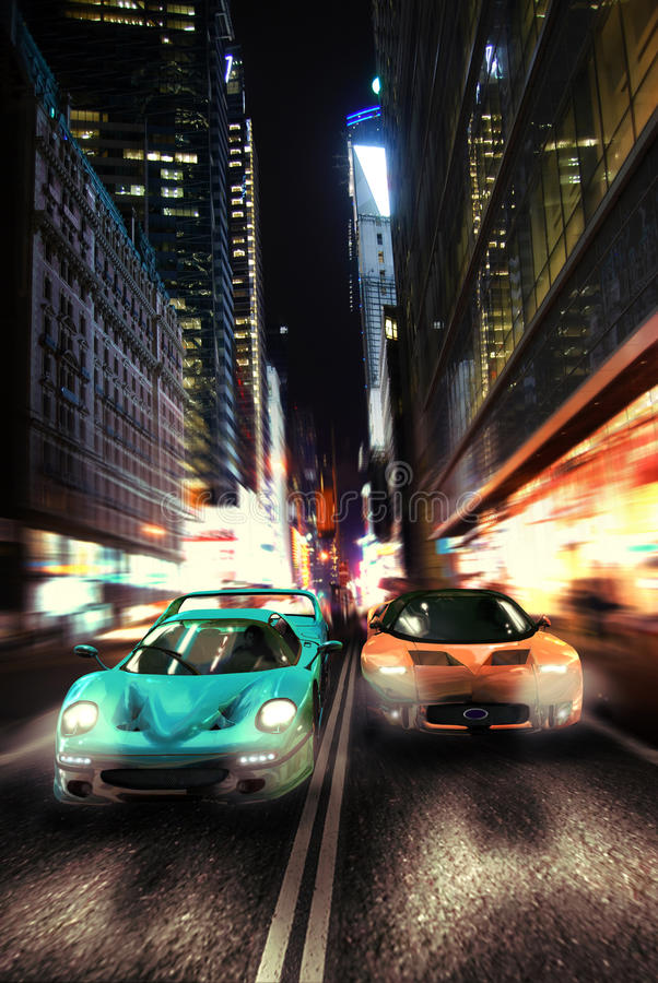 Download Urban night race car editorial image. Image of ford, glass - 23259225
