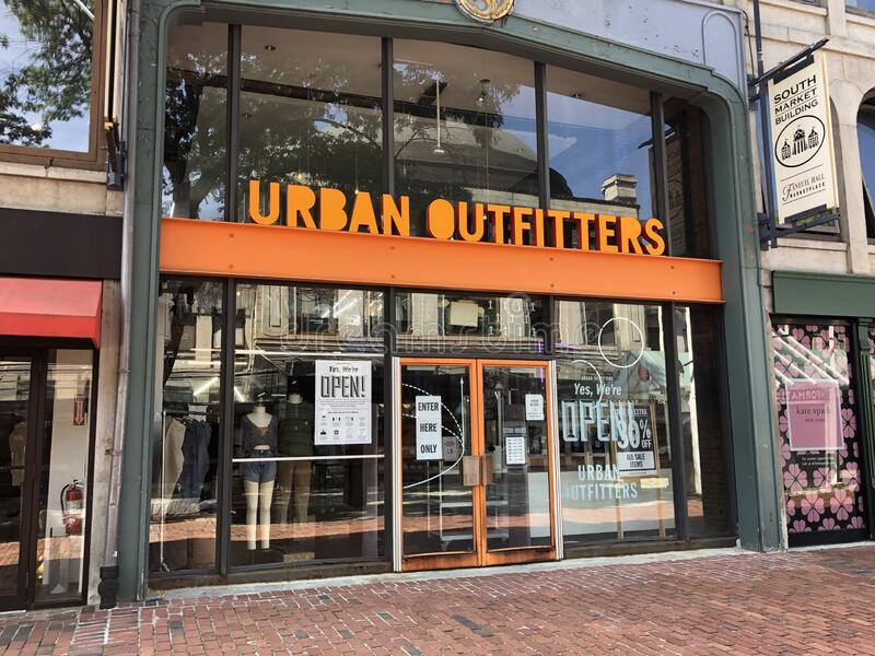 Urban Outfitters Quincy Market, Boston, MA stock photo