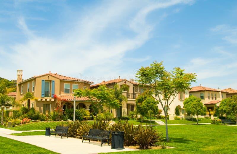 Urban park set among luxury spanish style homes royalty for Luxury spanish style homes