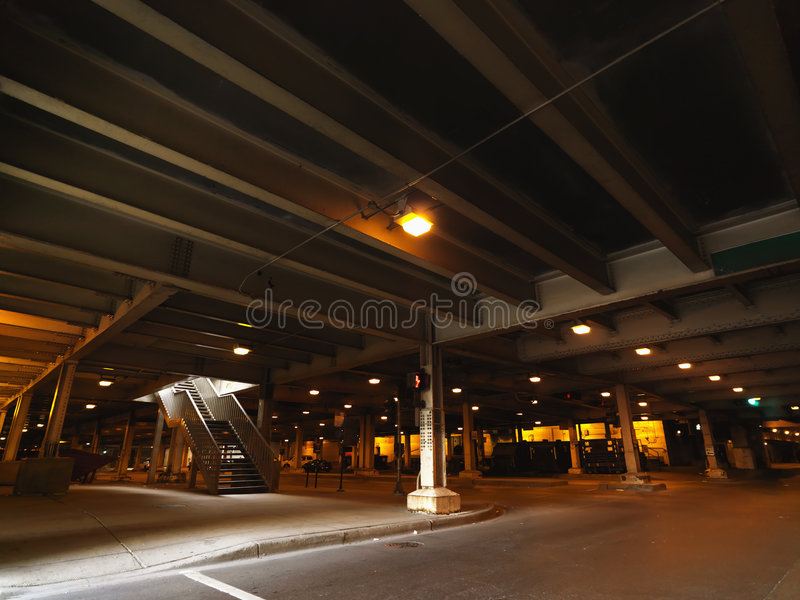 Urban parking in Chicago royalty free stock photography