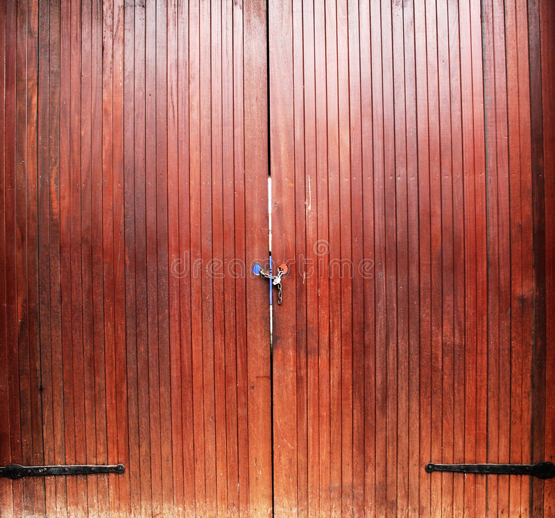 Urban pattern. Rustic wooden gate royalty free stock photography