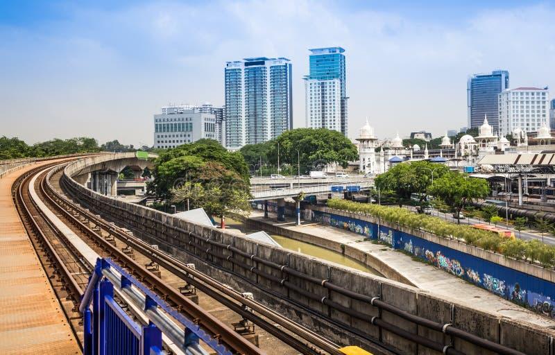 Urban rail transit in Kuala Lumpur, Malaysia.  stock image