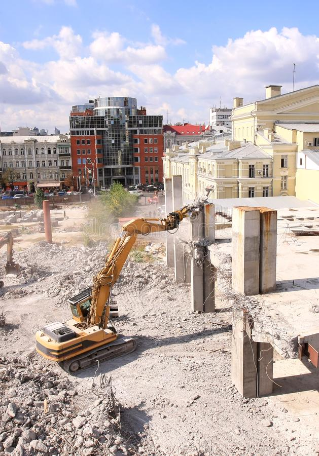 Download Urban Renewal In The City Centre Stock Image - Image of dismantling, broken: 10279229