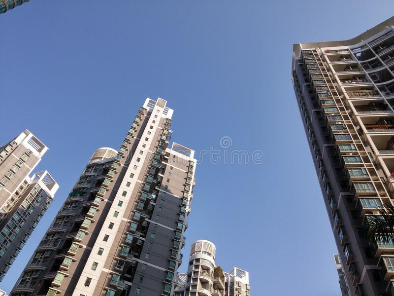 Urban residential building architectural landscape in shenzhen, China. Urban residential building architectural landscape, tall buildings stock images