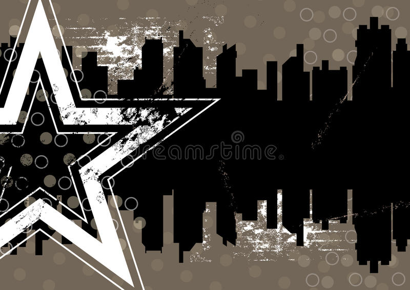 Urban retro background design royalty free illustration