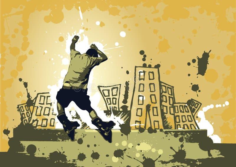 Urban rollerblade stock illustration
