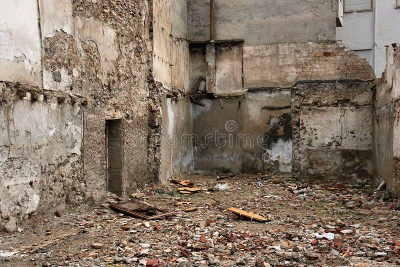 Urban ruins background stock photos