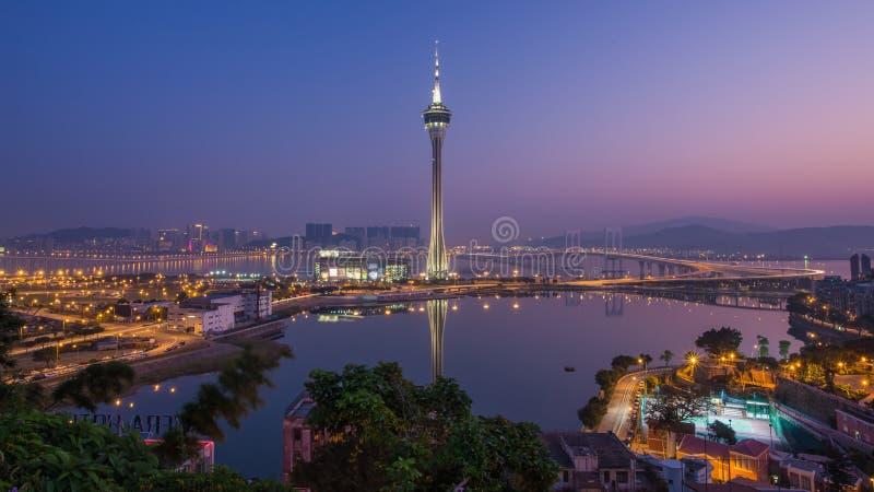 Urban scence cityscape of Macau in China.  stock photos