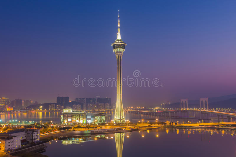 Urban scence cityscape of Macau in China.  royalty free stock image