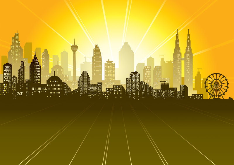 Download Urban scene stock vector. Illustration of design, scene - 4848022