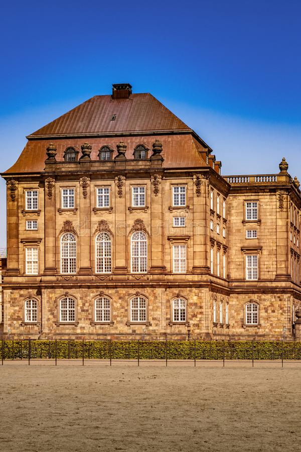 Urban scene with historical building and blue sky. In Copenhagen, denmark stock images
