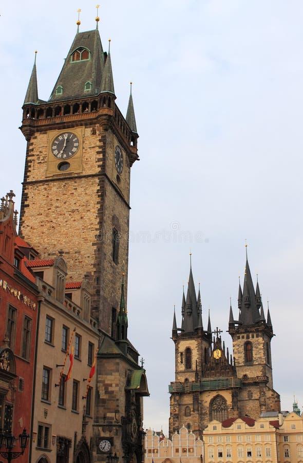 Urban scenic of Prague stock photos
