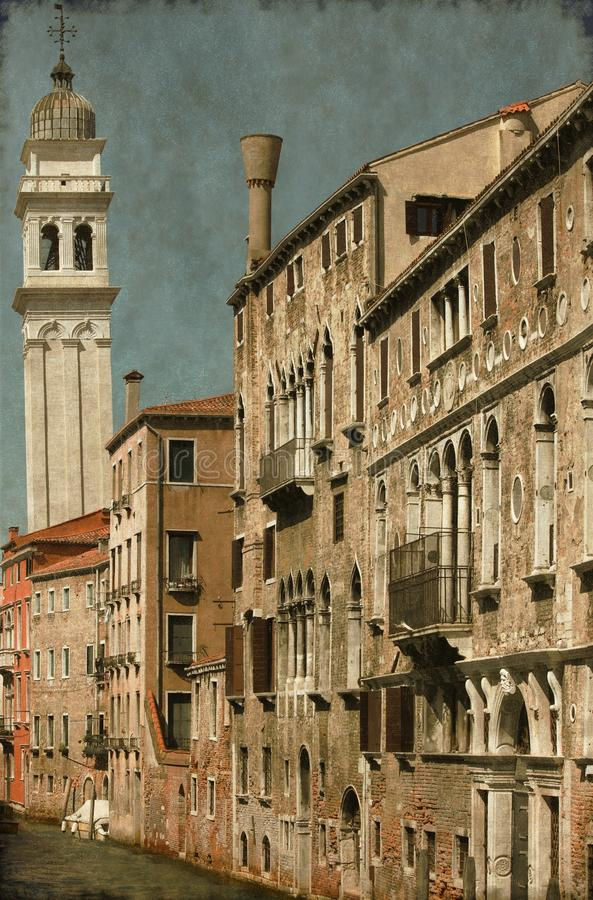 Urban scenic of Venice - Vintage royalty free stock image