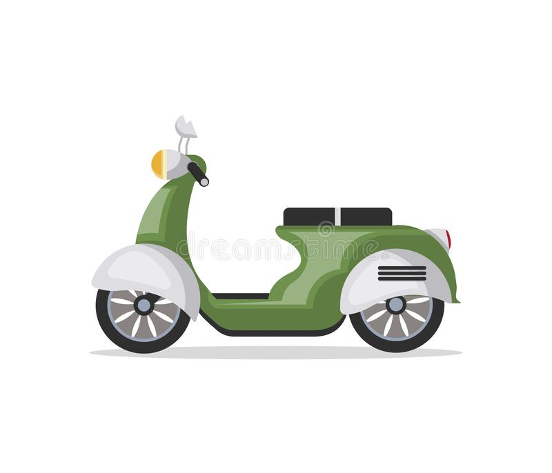 Urban scooter isolated icon. Urban scooter icon in flat style. Personal transport, city vehicle isolated on white background illustration stock illustration