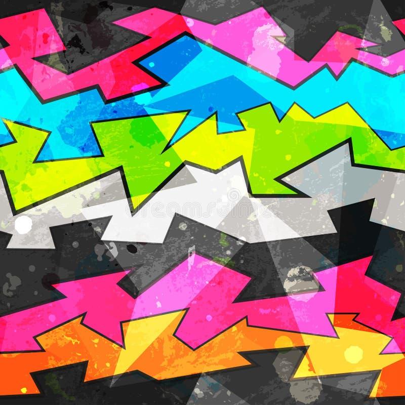 Urban seamless pattern stock illustration