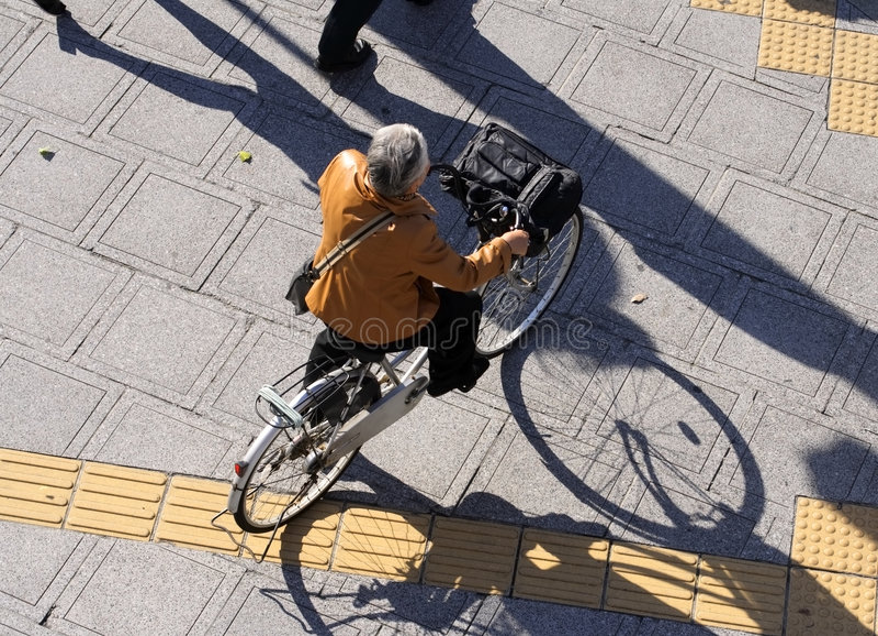 Urban shadows royalty free stock image