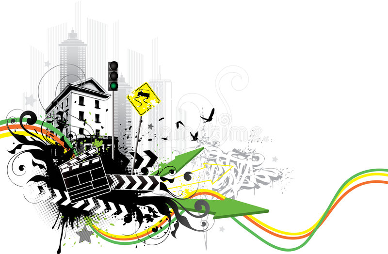 Download Urban signs and buildings stock vector. Image of birds - 6290454