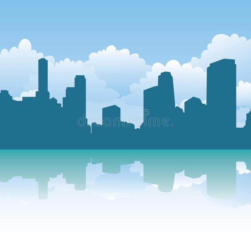 Download Urban silhouette stock vector. Image of scene, city, beautiful - 12855727