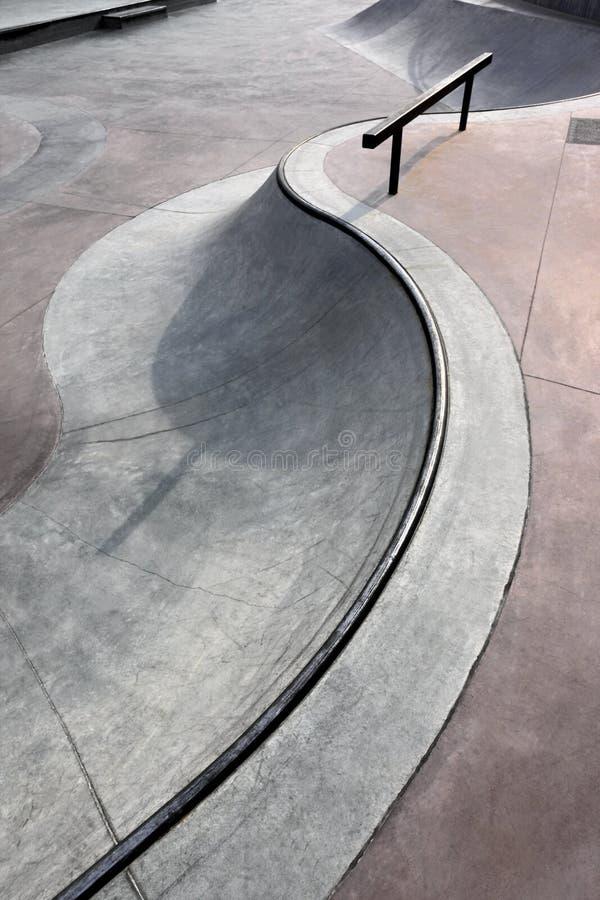 Urban skatepark royalty free stock photography